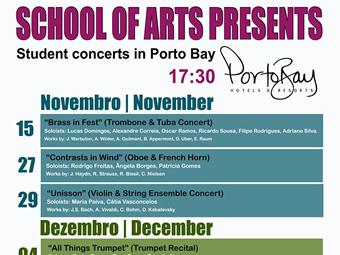 Concertos de alunos no Hotel Porto Mare