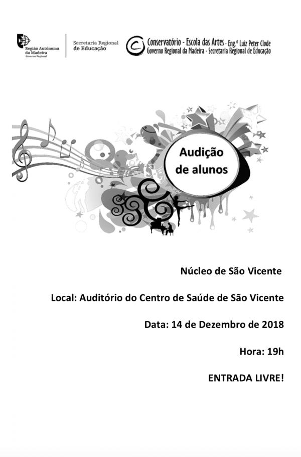 Núcleo de S. Vicente – 2.ª Audição