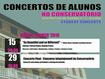 Concertos de alunos – Salão Nobre
