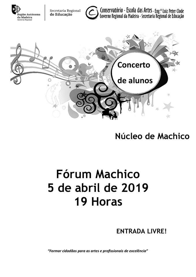Concerto de alunos – Fórum Machico