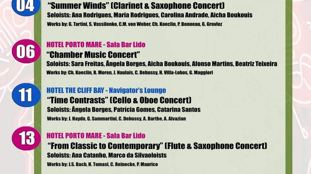 School of Arts – Students Concerts in Porto Bay